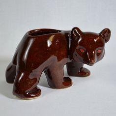 vintage bear vase.