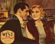 Lobby Card Photo / Poster Photo Colorful publicity materials from classic Hollywood movies, reproduced in easy-to-frame 8x10 size Title: I'm No Angel Star(s): Cary Grant, Mae West Real color glossy ph
