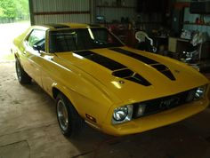1973 Mustang, Mustang Mach 1, Mustang Cars, Ford Mustangs, Yellow Mustang, Muscle Cars For Sale, My Ride, Car Car, Hot Wheels