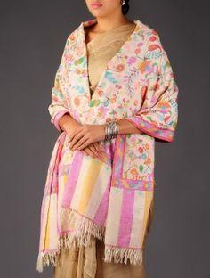 Pashmina Dorukha Kani Hand Woven Floral Paisley Shawl