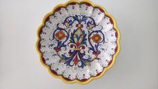 Marie C Deruta - Decorative plate - Hand painted