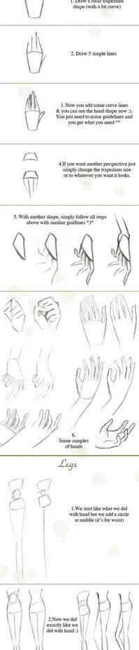 Simple sketching tips. Quick hand-legs-foot tutorial by `Hellobaby on deviantART Simple sketching tips. Quick hand-legs-foot tutorial by `Hellobaby on deviantART Drawing Skills, Drawing Techniques, Drawing Tips, Drawing Sketches, Cool Drawings, Drawing Stuff, Drawing Ideas, Doodle Drawing, Manga Drawing