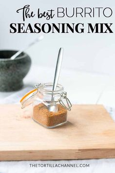 Want to season your burrito meat or vegan recipes try this homemade burrito seasoning. Easy to make cheap and done in no time. Burrito Seasoning Recipe, Chili Seasoning, Seasoning Mixes, Homemade Chili, Homemade Seasonings, Homemade Butter, Homemade Spices, Spice Blends, Spice Mixes