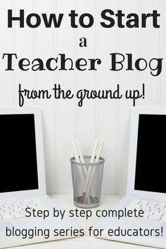 How to Start a Teacher Blog for Teachers Part 1: Domain, URL & Social Media - this is an awesome blogging series for teachers who want to start a niche educational blog. Pinning it for later so I can search through all of the resources! Step by step blog how to!