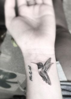 Hummingbird Tattoo on Wrist by Doctor Woo