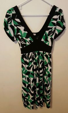 Forever Brand Multi-Color Deep V-Neck Dress Size Large Juniors #90 in Clothing, Shoes & Accessories, Women's Clothing, Dresses | eBay