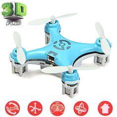 Cheerson® CX-10 Mini Drone Nano Cuadricópteros RTF - 4 Canales 6 Ejes Gyro 360 Grados 2.4G RC Minicóptero con Luz LED (Azul) - https://complementoideal.com/producto/tienda-socios/cheerson-cx-10-mini-drone-nano-cuadricpteros-rtf-4-canales-6-ejes-gyro-360-grados-2-4g-rc-minicptero-con-luz-led-azul/