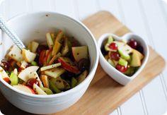 Bake at 350 goes savory: Apple, Grape and Celery Salad