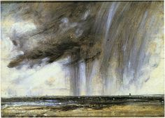 'A rain storm over the sea' by John Constable. 1824-28. (Royal Academy of Arts, London; exh. National Gallery of Scotland, Edinburgh)