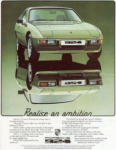 Publicite Anglaise Porsche 924