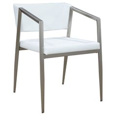 Arrow Dining Chair In 2019 Products White Leather Dining