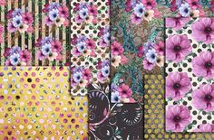 Floral digital paper pack by chilipapers on @creativemarket