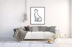 Instant Download Printable Art Nursery Decor Nursery Wall Art Animal Print Nursery Prints Nursery Printables Art Prints Cat Lover Gift
