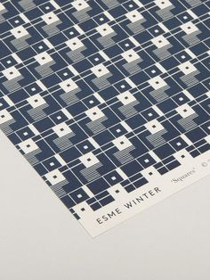 Squares Wrapping Paper in Navy by Esme Winter