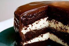 Jeg kunne ha kalt denne for sjokoladekake enkelt og greit, men denne kaken er så mye mer enn det. Bare se på den! Den er ikke vanskelig å lage men krever litt tid. Særlig når du kommer til glasuren vil du måtte ta lengre pauser slik at glasuren får stivnet mellom lagene. Kaken er mektig, [...]Read More...