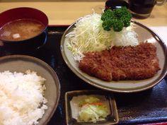 Tonkatsu lunch in Yokohama
