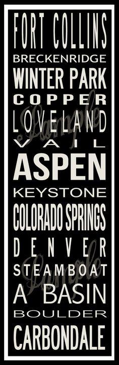 Custom Colorado Ski Resort Poster in Printable by BonTempsBeignet, $25.00