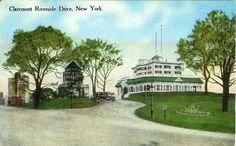 Writerquake: Old Postcard Wednesday--Claremont, Riverside Drive, New York City
