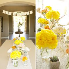 Bright and beautiful--nice departure from your typical pink baby shower! Chic and gorgeous!