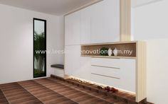 Lee Siang Renovation Sdn Bhd - Shoe Cabinet Design JB, Johor Bahru, Malaysia renovation, We specialize in : Interior Design, Cement Construction, Floor Tiles, Kitchen Cabinet, Furniture, Plaster Ceiling, Aluminium, Plumbing & more.