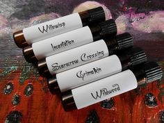 Hey, I found this really awesome Etsy listing at https://www.etsy.com/listing/81414749/halloween-perfume-sampler-set-4-the-wild