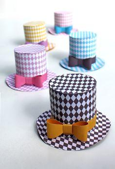 paper miniature top hat diamond template pattern