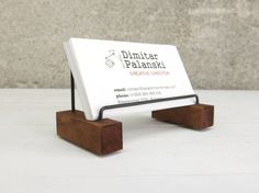 Business card holder business card stand rustic office decor desk card holder business card holder desk decor business card holder vizitak wooden card holder office accessories paper holder reheart Image collections