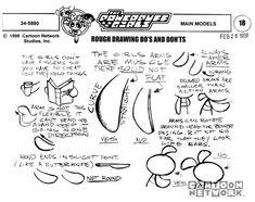 The Powerpuff Girls Model Sheets