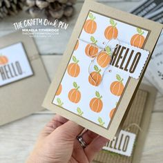 Thanksgiving Cards, Cards For Friends, Inspire Others, Free Gifts, Stampin Up, Banner, Greeting Cards, Paper Crafts, Seasons