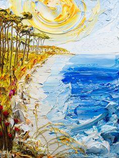 30x40 Acrylic on Canvas - Seascape Series- Artist, Justin Gaffrey