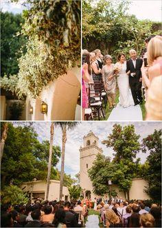 los angeles river center and gardens wedding ceremony