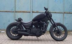 matt black suzuki intruder...when I get my bike this month, whichever I decide, I'm make exactly like this. I don't know his yet, but I'm sure I'll figure it out. Bad freaking ass!! Takes flat black to a whole other level. Beautiful.