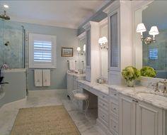 Bathroom - House of Turquoise: Studio M Interior Design House Design, Master Bathroom Design, Bathrooms Remodel, Bathroom Decor, Home, Interior, Bathroom Design, Beautiful Bathrooms, Painting Bathroom