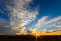The sun sets on the Arizona desert