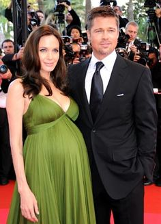 Angelina Jolie and Brad Pitt.  What a beautiful color.