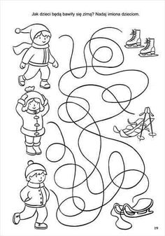 Crafts For Kids To Make, Christmas Crafts For Kids, Teaching Kindergarten, Preschool, Vegetable Crafts, Barbie Coloring Pages, Winter Activities For Kids, Winter Sports, Kids Education