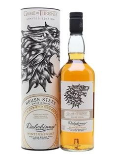 Dalwhinnie Winter's Frost - Game of Thrones House Stark Scotch Whisky : The Whisky Exchange Rum Bottle, Liquor Bottles, Scotch Whiskey, Bourbon Whiskey, Game Of Thrones Cocktails, Speyside Whisky, Spirit Drink, Game Of Thrones Houses, Single Malt Whisky