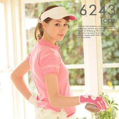 Frill polo shirt for golf