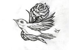 """For my dad, with the sun behind it instead of the rose because I call him my sunshine. The nightingale because I dedicated """"Nightingale"""" by Demi Lovato to him"""