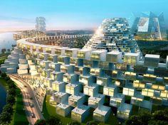 Bjarke Ingels Group – BIG,Urban plan proposal for Ansan city,Project South Korea year 2010