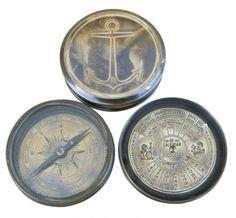 Kompass Dauerkalender Messing Antik 75cm Durch Drehen Zu Ffnen
