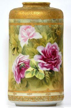 porc.NIPPON__Nippon gold beaded vase