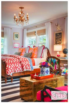 The secret to creating a beautiful home isn't in cloning a big-name designer's style, or washing a room in the latest trend. It's about thoughtfully constructing a space that celebrates the people … design Dream Bedroom, Home Decor Bedroom, Master Bedroom, Modern Bedroom, Contemporary Bedroom, Bedroom Furniture, Bedroom Curtains, Preppy Bedroom, Budget Bedroom