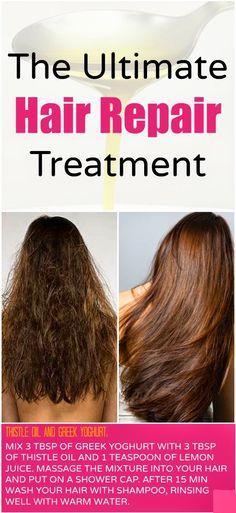 How to Repair Damaged Hair at Home!