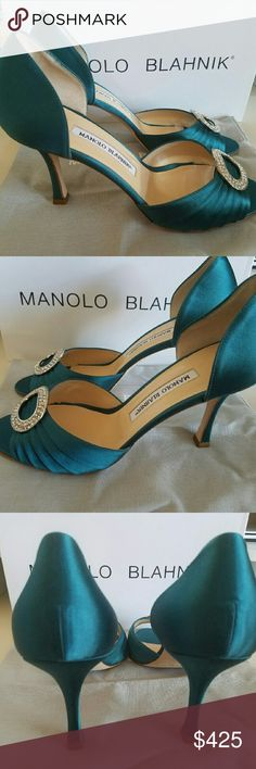 Manolo Blahnik Beautiful Jimmy Choo Shoes purchased from Saks 5th Ave come with original box. Never worn. Manolo Blahnik Shoes Heels