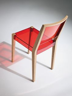 Technopolymer #chair by GABER   #design Marc Sadler #red