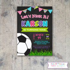Welcome to Party So Perfect! This listing is for a PRINTABLE party invitation to help make your special day truly unforgettable! You will receive