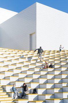 Lego House by Bjarke Ingels Group, Billund, Denmark. Bjarke Ingels Architecture, Villa Architecture, World Architecture Festival, Architecture Awards, Contemporary Architecture, Urban Landscape, Landscape Design, Casa Lego, Landscape Arquitecture