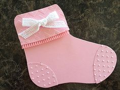 Bootie made from the Holiday Stocking Bigz die from Stampin Up. Inspired Paper and Ink