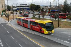 Bus of Transmilenio BRT system in Bogota, Colombia